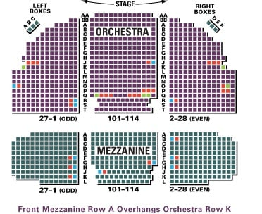 Broadhurst Theatre Seating Chart Row Seat Numbers