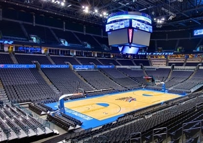 Chesapeake Energy Arena Seating Chart Row Seat Numbers