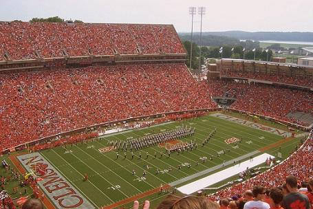 clemson memorial stadium seating chart row seat numbers