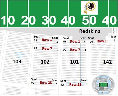 Fedex Field Seating Chart