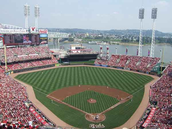 Great American Ball Park Seating Chart - Row & Seat Numbers on