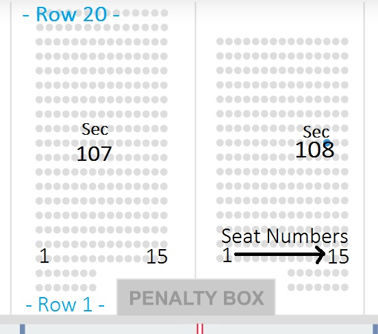 Joe Louis Arena Seating Chart - Row & Seat Numbers