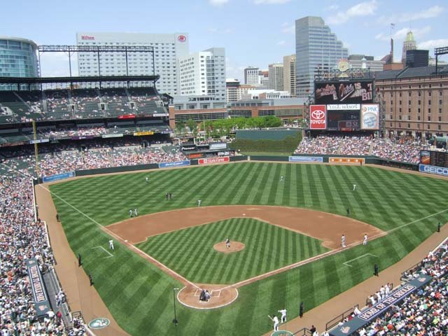 Oriole Park At Camden Yards Seating Chart Row Seat Numbers