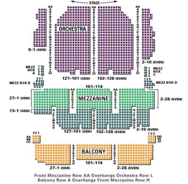 Palace Theatre Seating Chart Row Amp Seat Numbers