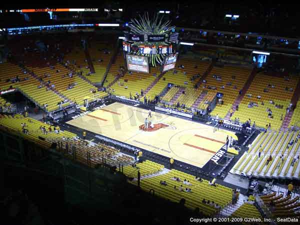 Americanairlines Arena Seat Views Section By Section