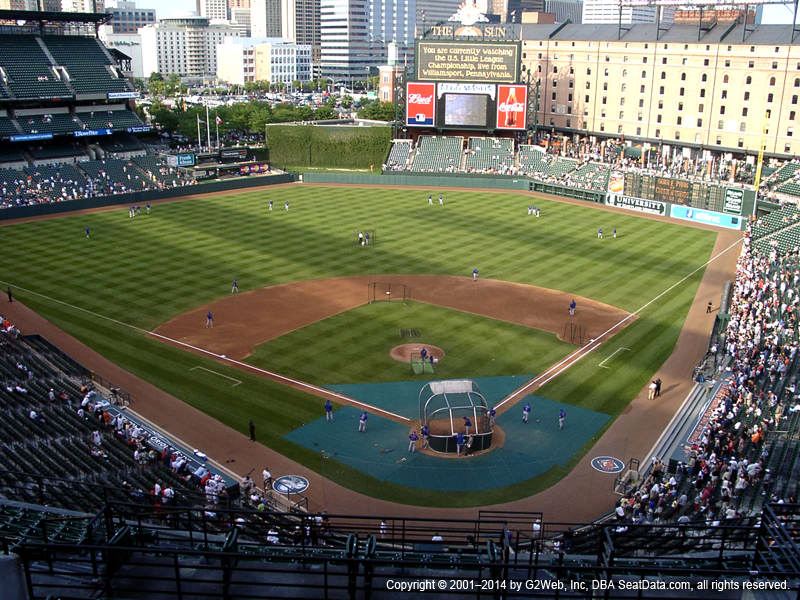 Oriole Park At Camden Yards Seat Views