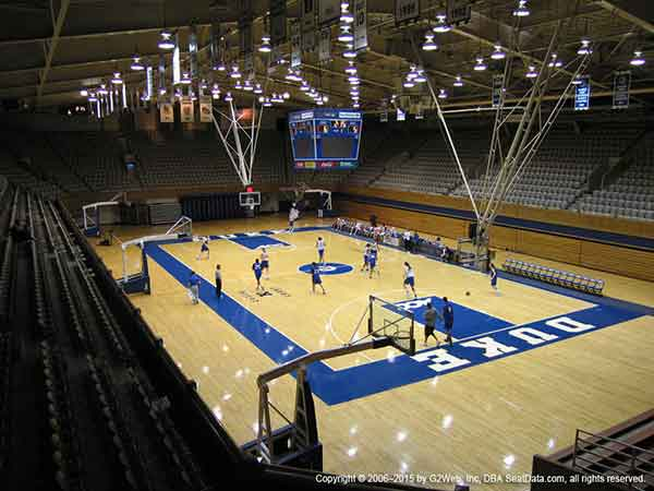 Cameron Indoor Stadium Seat Views Section By Section