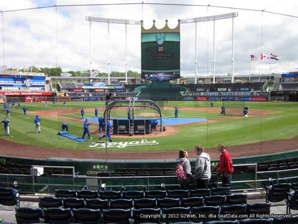 Kauffman Stadium Seat Views Section By Section