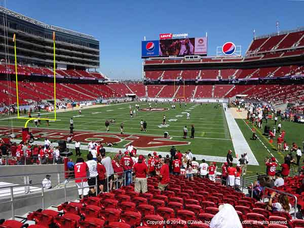 Levis Stadium Seat Views Section By Section