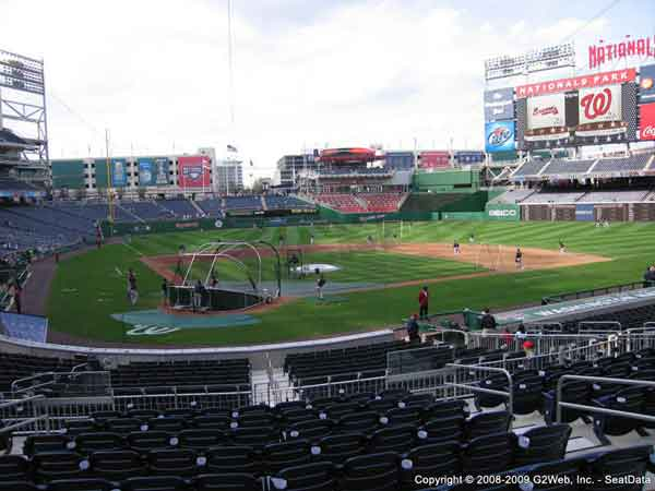 Nationals Park Seat Views Section By Section