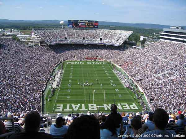 Beaver Stadium Seat Views Section By