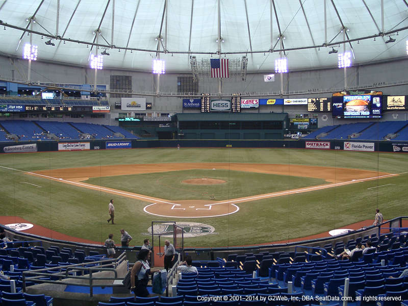 Tropicana Field Seat Views Section By Section