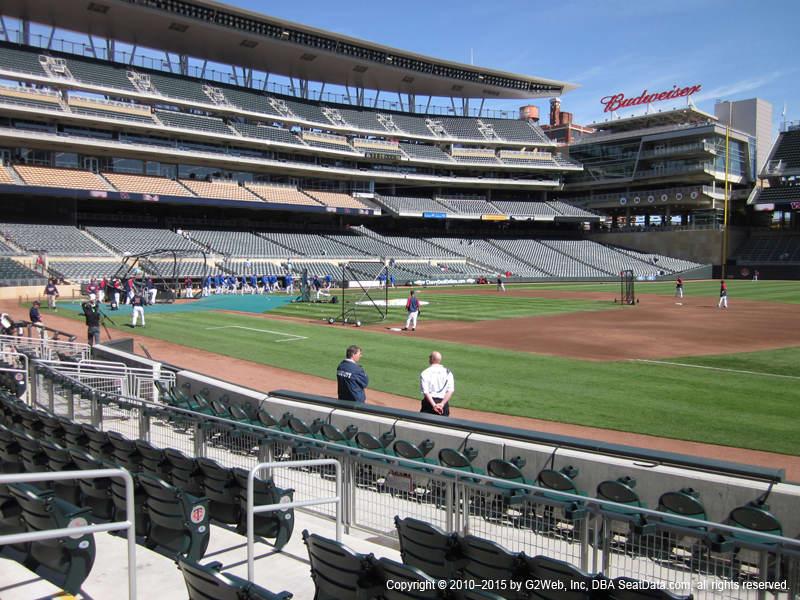 Minnesota Twins Seat Views Section 1