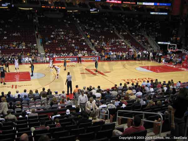 Toyota Center Seat Views Section By Section