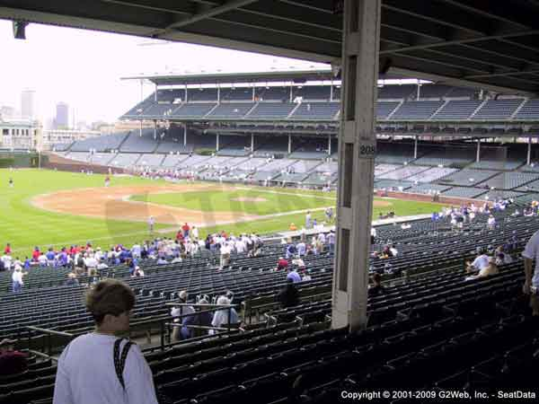 Wrigley field seat views section by section
